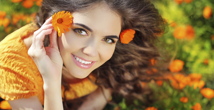 Beauty happy Romantic woman Outdoors. Beautiful Teenage girl emb